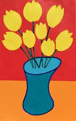 Painting - Yellow Tulips by Matthew Brzostoski