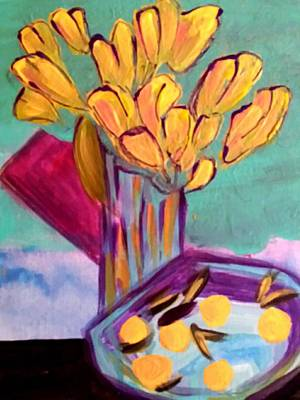 Painting - Yellow Tulips by Nikki Dalton