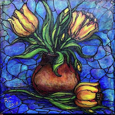 Painting - Yellow Tulips by Rae Chichilnitsky