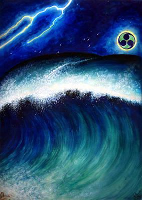 Atlantis Painting - Tidal Wave. Last Hour Of Atlantis by Sofia Metal Queen