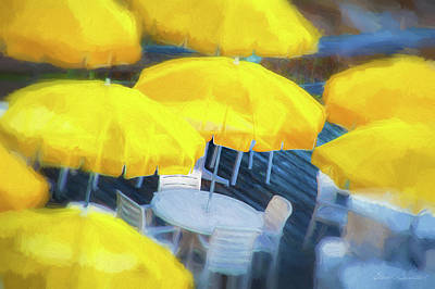 Photograph - Yellow Umbrellas by Glenn Gemmell