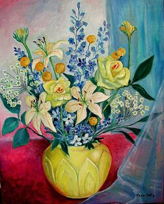 Painting - Yellow Vase by Fran Kelly