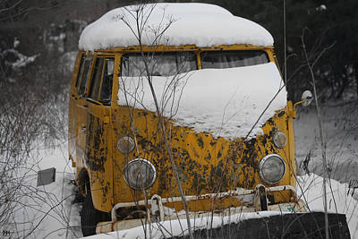 Photograph - Yellow Vw Microbus by John Meader
