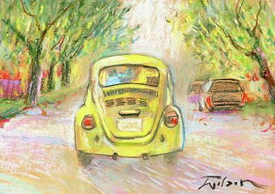 Yellow Vw Art Print by Ron Wilson