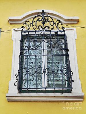 Photograph - Yellow Wall And A Window Grate  by Erika H