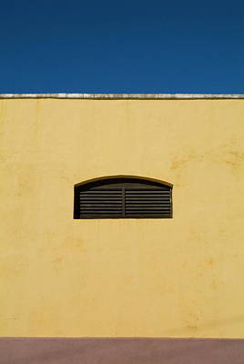 Yellow Wall In Trinidad Art Print by Sami Sarkis