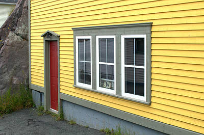 Photograph - Yellow Wall Red Door by Douglas Pike