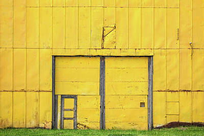 Entrance Door Photograph - Yellow Wall by Todd Klassy