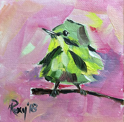 Yellow Painting - Yellow Warbler by Roxy Rich