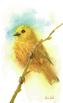 Painting - Yellow Warbler by Sean Seal