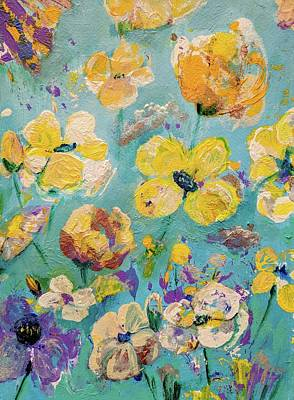 Painting - Yellow Wild Flowers by Haleh Mahbod