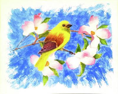 Yellow Winged Art Print by Darrell Mcgahhey