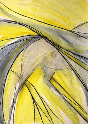 Sporthorse Mixed Media - Yellow Wings by Jennifer Fosgate