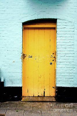 Yellow Wooden Door Art Print by Tom Gowanlock