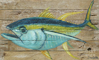 Yellowfin Tuna Art Print by Danielle Perry