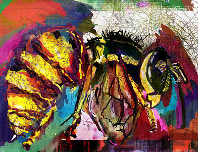 Wasp.insect Digital Art - Yellowjacket In Trance by James Thomas