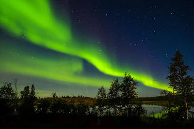 Photograph - Yellowknife Aurora Series 1 by John McArthur