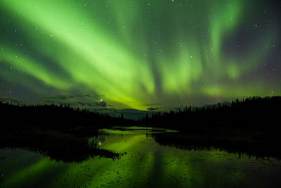 Photograph - Yellowknife Aurora Series 12 by John McArthur