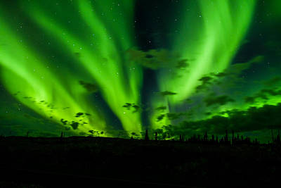 Photograph - Yellowknife Aurora Series 6 by John McArthur