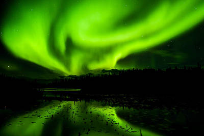 Photograph - Yellowknife Aurora Series 9 by John McArthur