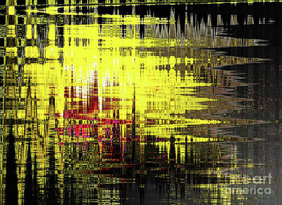 Digital Art - Yellowpop Revisited by Deborah Nakano