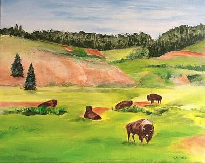 Painting - Yellowstone by Ellen Canfield