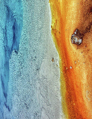 Photograph - Yellowstone Abstract by Art Cole