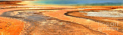 Photograph - Yellowstone Abstract Panorama by Adam Jewell