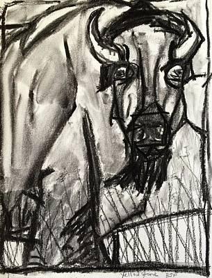 Drawing - Yellowstone by Brenda Pressnall