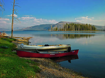 Photograph - Yellowstone Canoes by Skeeze