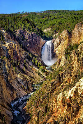 Photograph - Yellowstone Canyon Falls by Carolyn Derstine