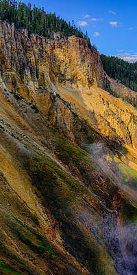 Photograph - Yellowstone Canyon Triptych Left Panel by Greg Norrell