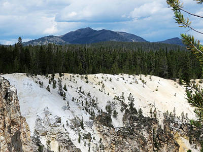 Photograph - Yellowstone Cliff by Laurel Powell