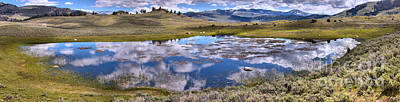 Photograph - Yellowstone Cloud Ponds by Adam Jewell