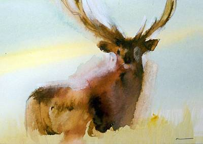 Painting - Yellowstone  Elk by Ed Heaton