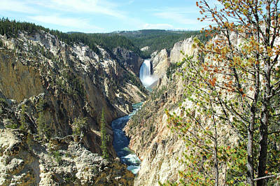 Firefighter Patents Royalty Free Images - Yellowstone Falls and River Royalty-Free Image by Todd and Ashleigh Madsen