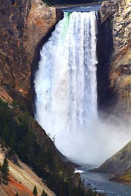 Photograph - Yellowstone Falls by Charlotte Schafer