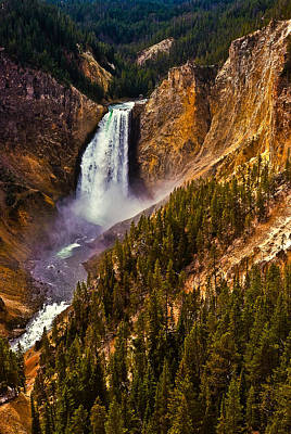 Photograph - Yellowstone Falls by Harry Spitz