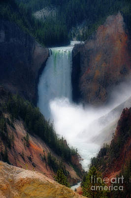 Yellowstone Digital Art - Yellowstone Falls by Jim Hatch