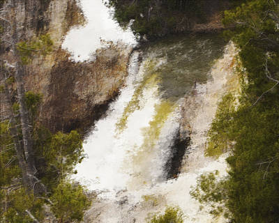 Yellowstone Falls Art Print by Jo-Anne Gazo-McKim