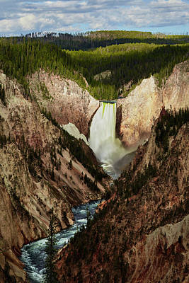 Photograph - Yellowstone Falls  by Jon Glaser