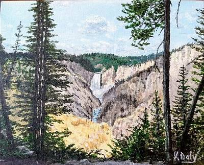 Painting - Yellowstone Falls by Kevin Daly