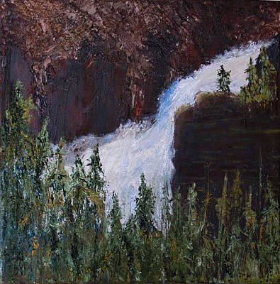 Painting - Yellowstone Falls by Libby  Cagle