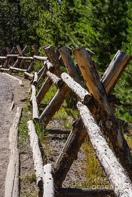 Photograph - Yellowstone Fencing by Jennifer White