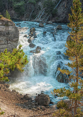 Photograph - Yellowstone Firehole River Cascade by John M Bailey