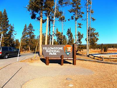 Photograph - Yellowstone Gallery Marker by Adam Cornelison
