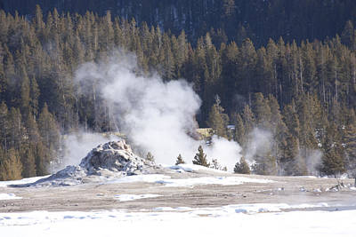 Photograph - Yellowstone Geiser by Mary Haber