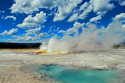 Photograph - Yellowstone Geyser by Matt Harang
