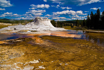 Yellowstone Geyser Art Print by Patrick  Flynn