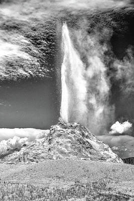 Photograph - Yellowstone Geyser by Richard J Cassato